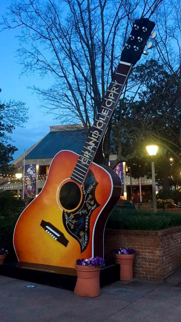 a giant guitar outside of the grand ole opry - a must with only one day in nashville