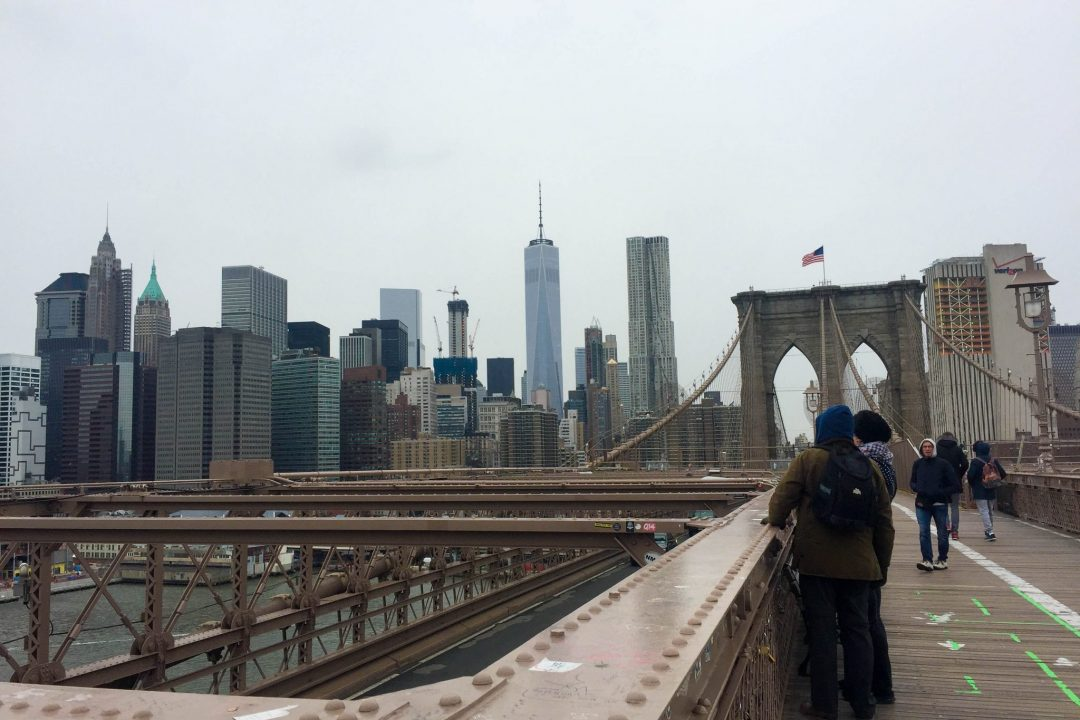 Brooklyn Bridge & One World Trade Center