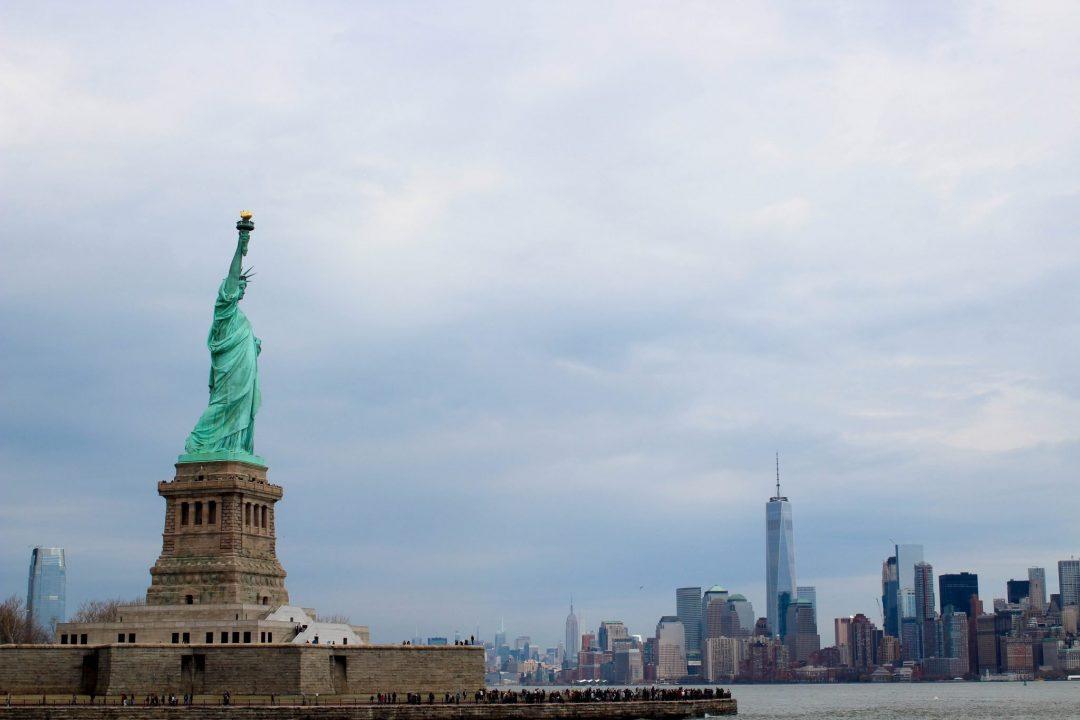 Statue of Liberty New York City Skyline