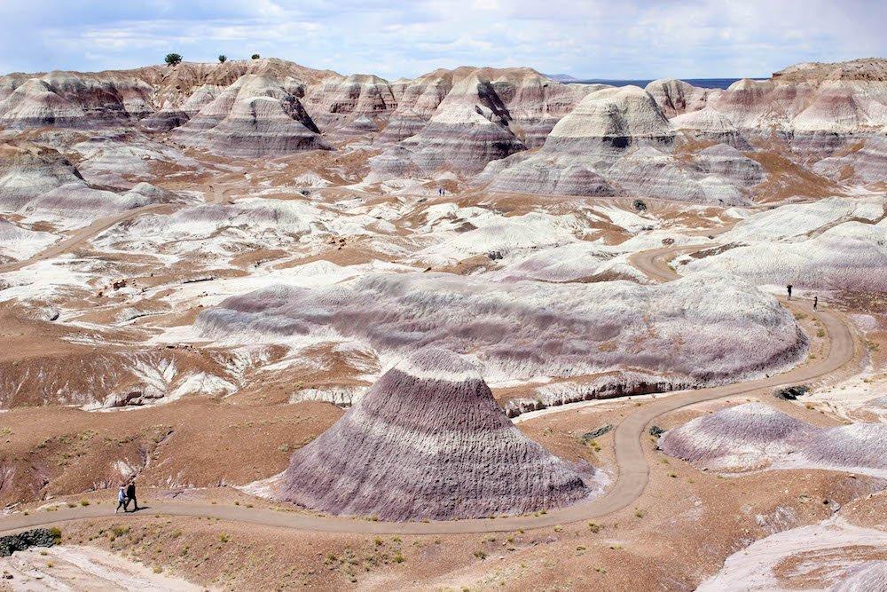 Blue Mesa Trail 2 Petrified Forest National Park Arizona USA.