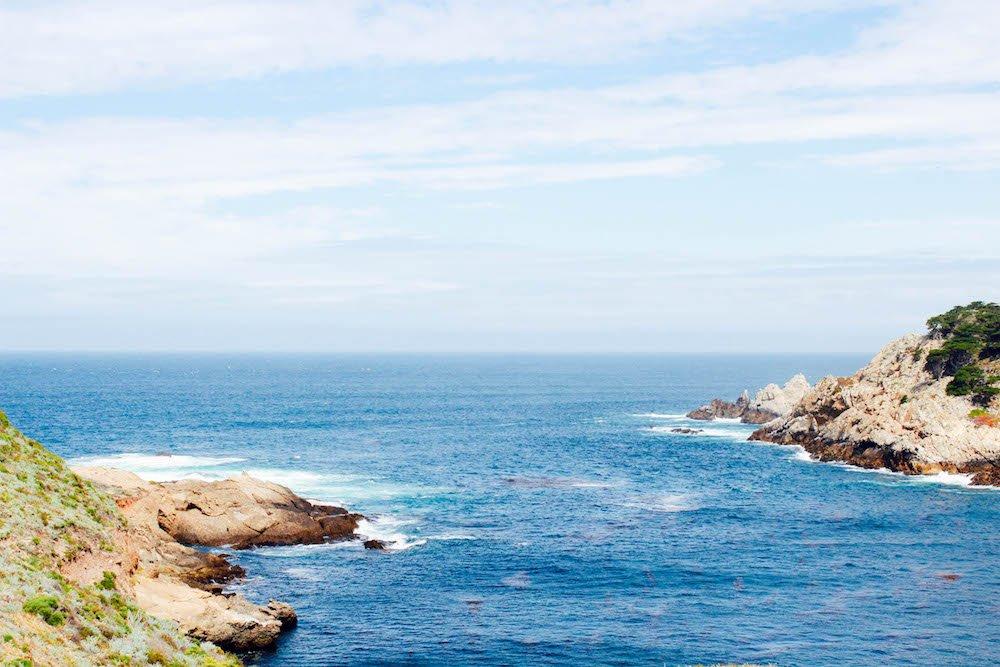 Coastline Sea Point Lobos State Natural Reserve California USA