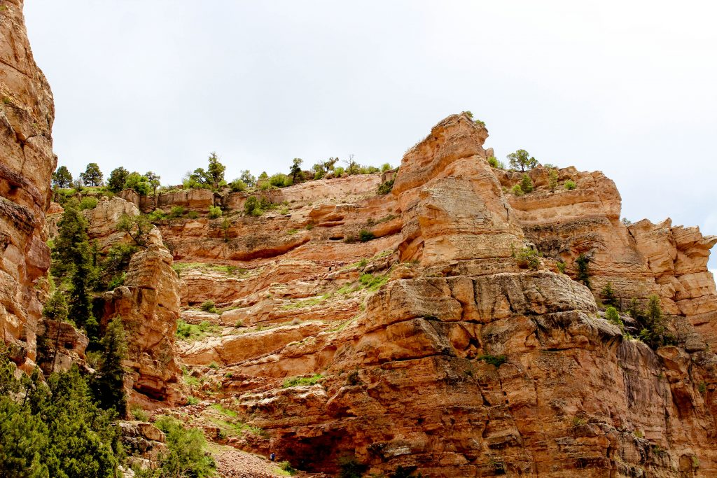 the imposing walls of the Grand Canyon from the South Kaibab Trail
