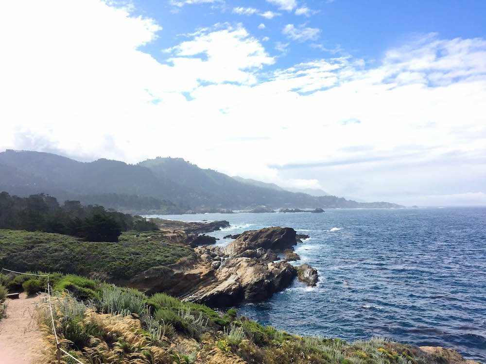 Moody Coastline Point Lobos State Natural Reserve California USA