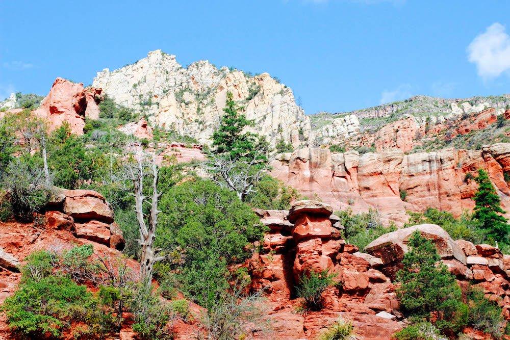 Red Rock Mountains Slide Rock State Park Arizona USA
