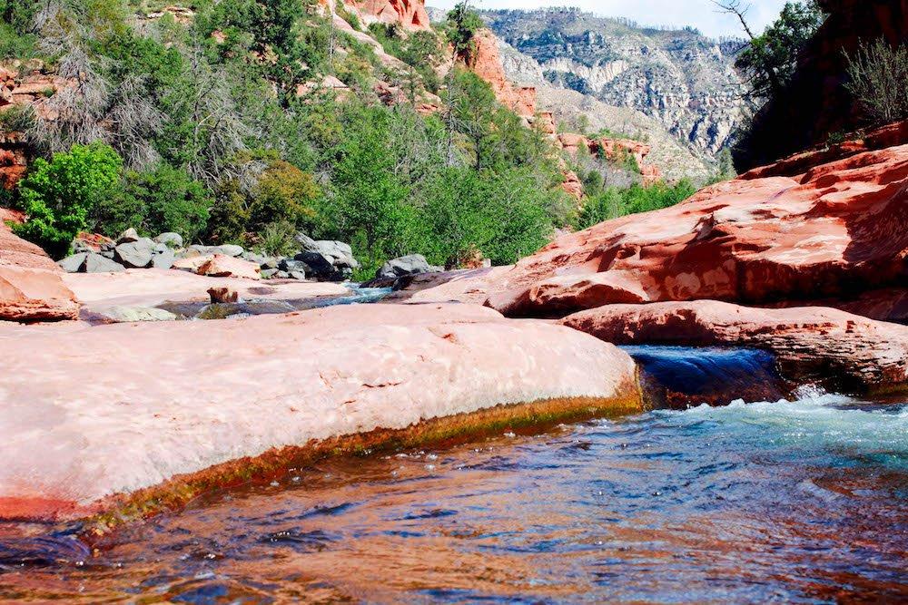River and rock Slide Rock State Park Arizona USA