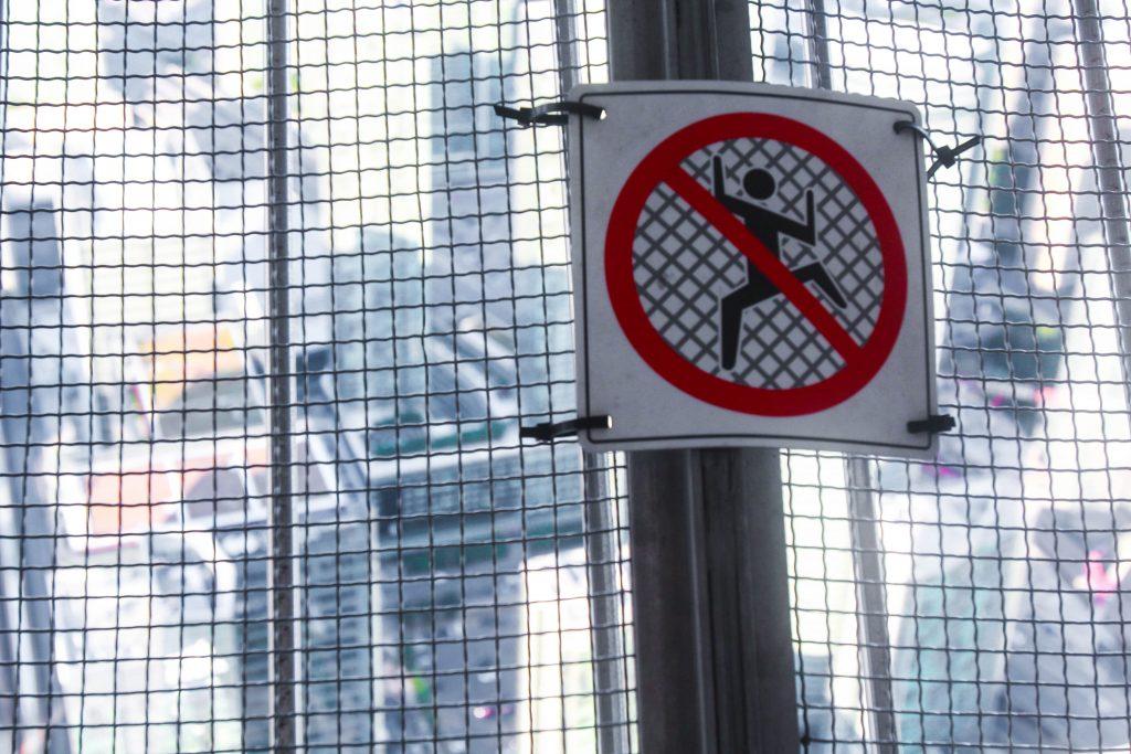 CN Tower No Climbing Toronto