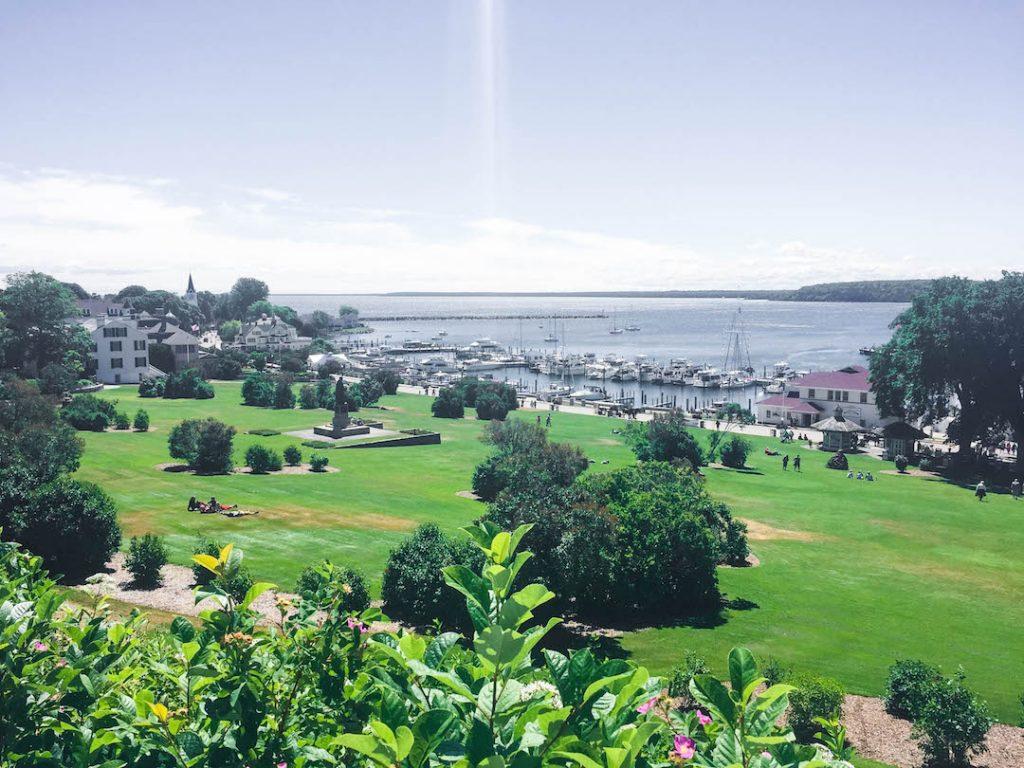 The view from Fort Mackinac on Mackinac Island, Michigan