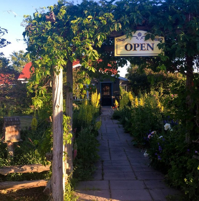 Path leading to Garden's Gate Restaurant on Manitoulin Island, Canda