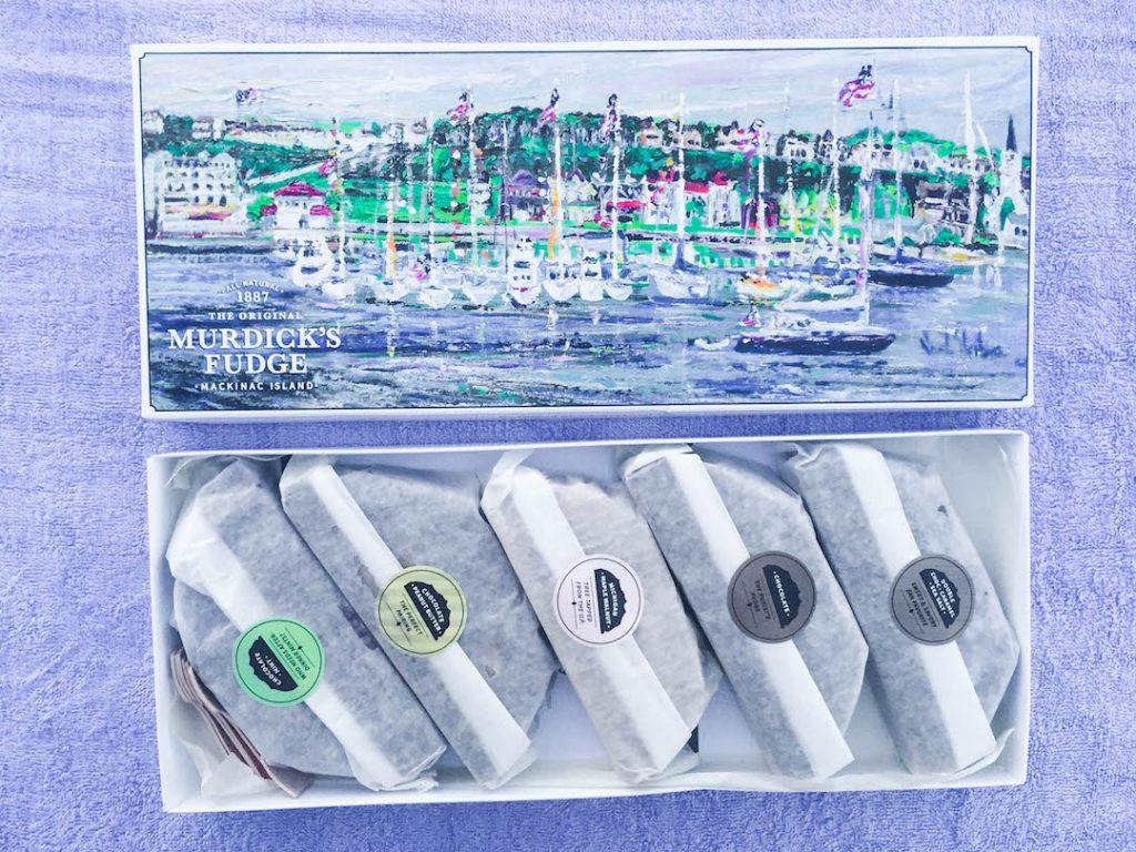 Five pieces of Mackinac Island Fudge