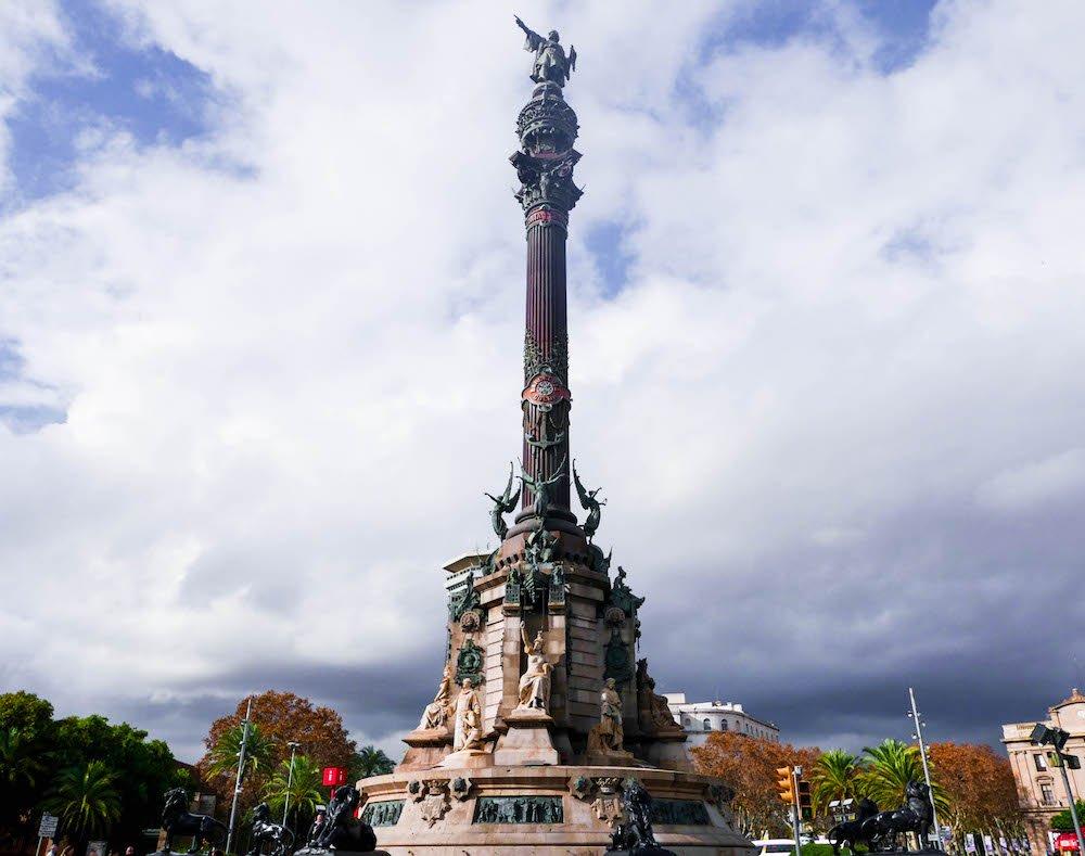 Columbus Monument Barcelona Spain
