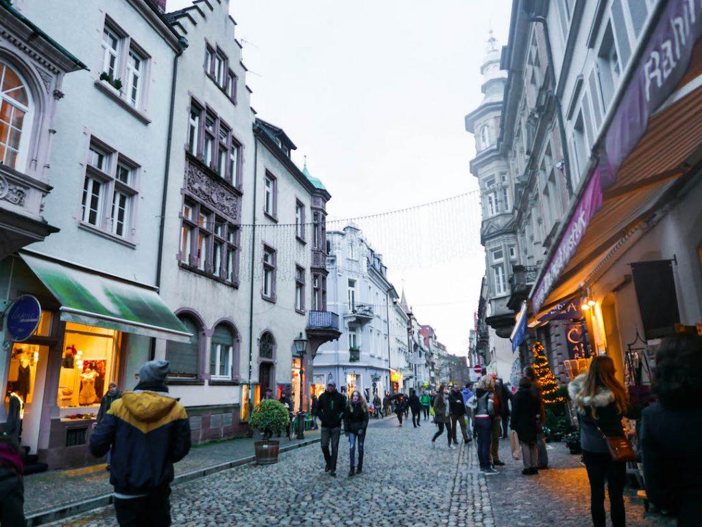 A random street in Freiburg, Germany