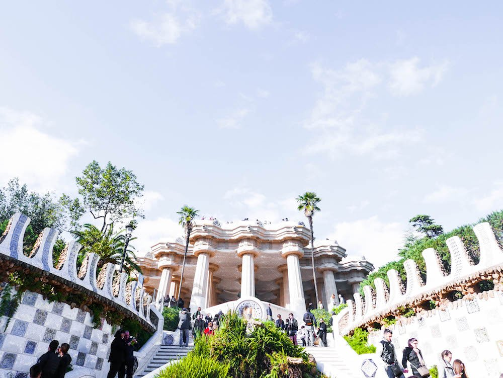 Park Guell Monumental Zone Barcelona Spain