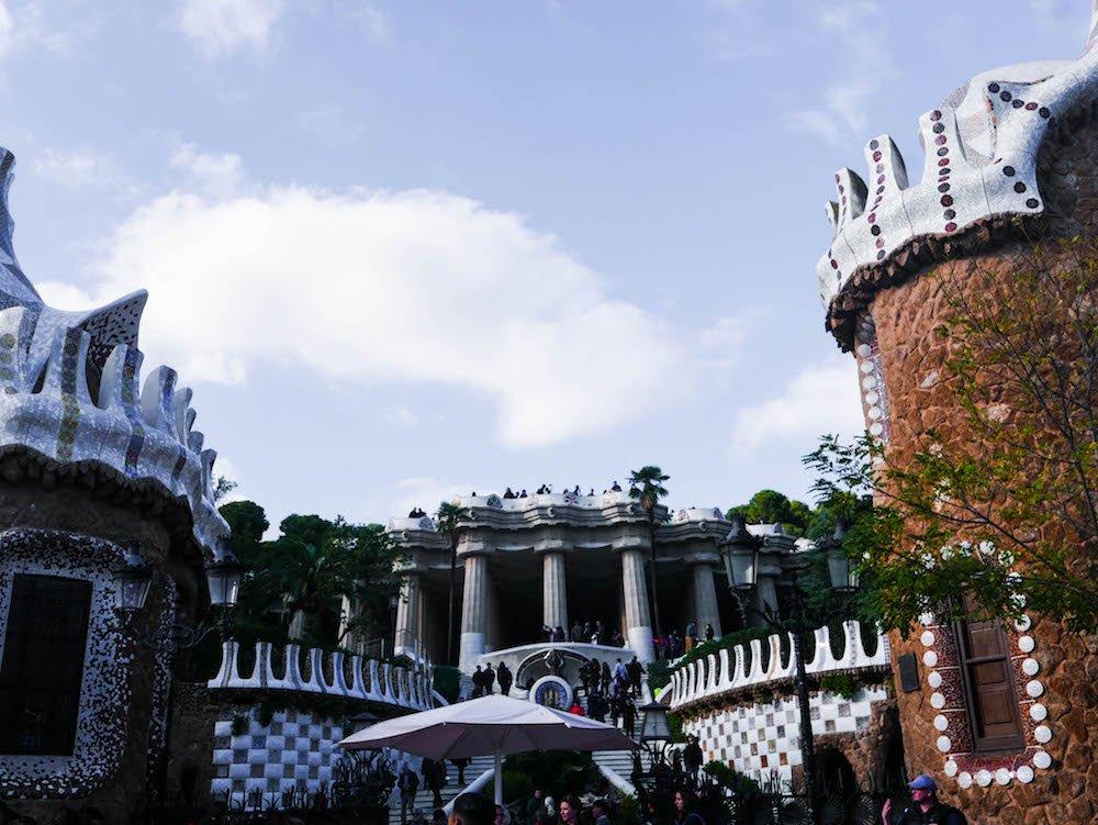 Park Guell Monumental Zone Gaudi Barcelona Spain