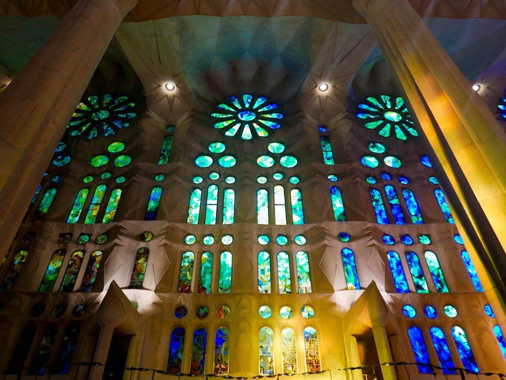 Stained Glass La Sagrada Familia Barcelona Spain