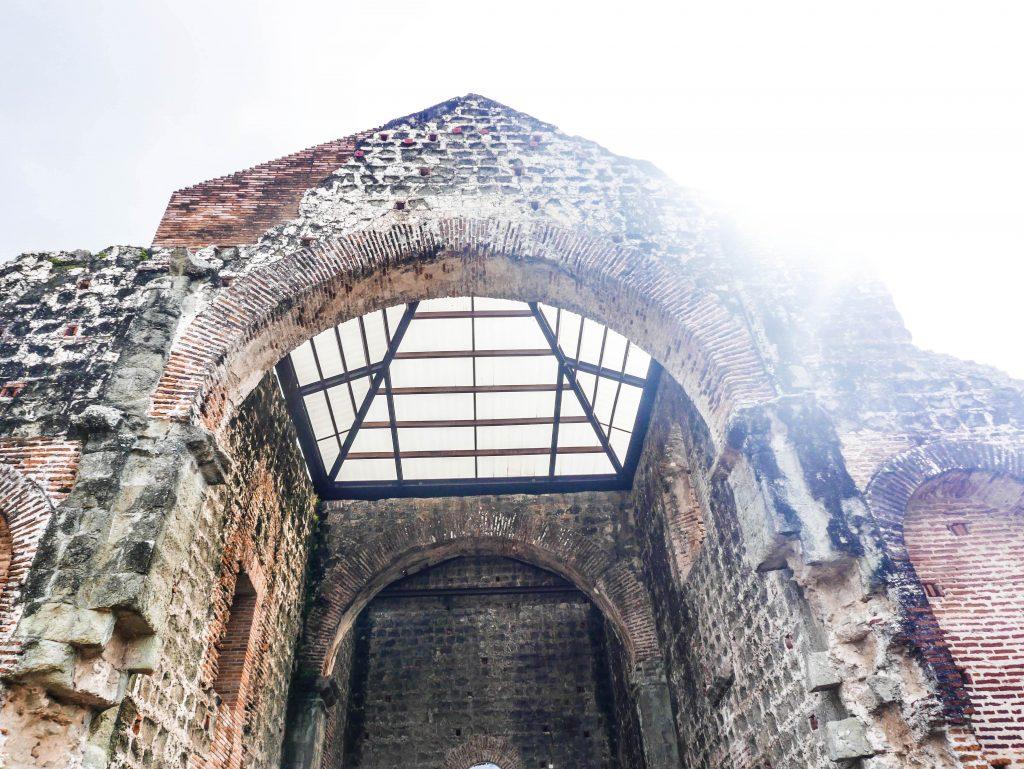 A chapel ruin in Panama Viejo, Panama City, Panama