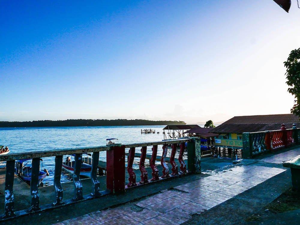 Docks on Isla Bastimentos Bocas del Toro Panama