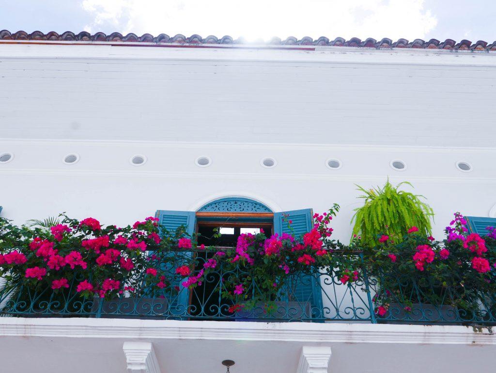 Balcony Flowers Casco Viejo Panama City