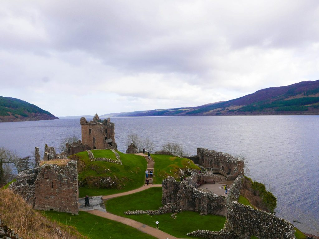 Urquhart Castle on Loch Ness, Drumnadrochit, Scotland