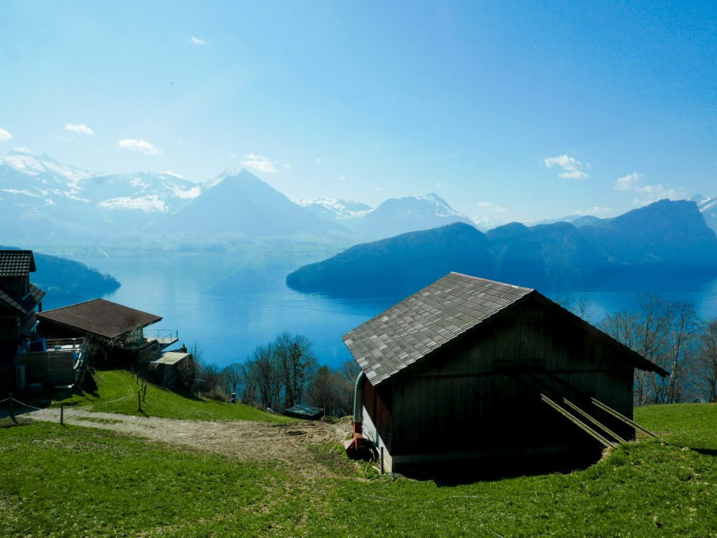 A mountain hut in Switzerland, one of the best solo female travel destinations