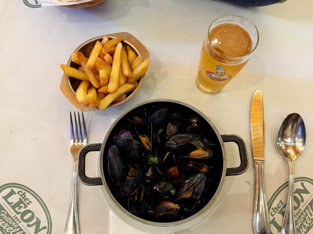 Mussels in Brussels Chez Leon