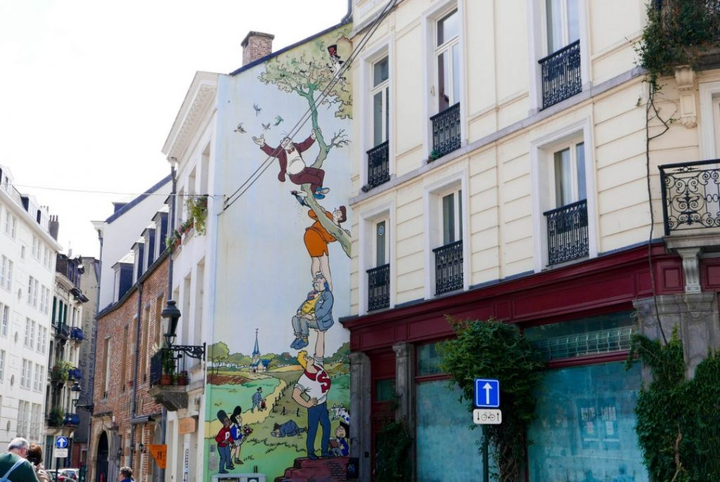 Brussels Comic Strip Wall Belgium on a Budget