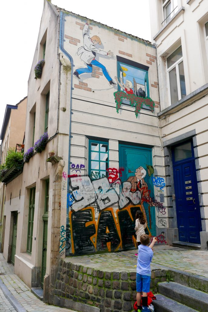 Brussels Comic Strip Wall