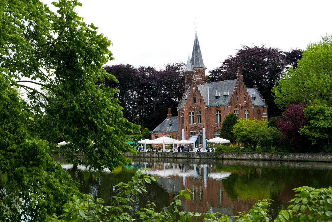 Minnewater Park Cafe in Bruges