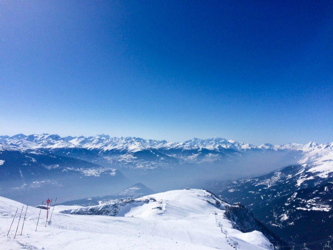 Mountains Crans Montana Switzerland