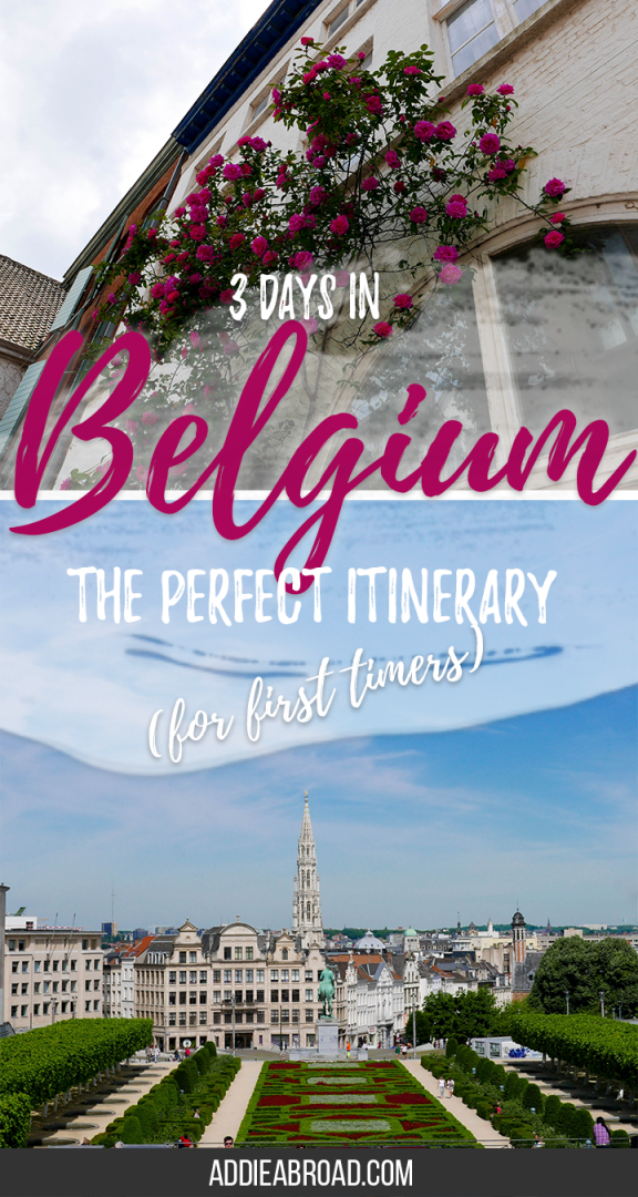 Want to know how to make the most out of your time in Belgium? Check out this itinerary for 3 days in Belgium covering Brussels and Bruges. It's perfect for your first time in Belgium!