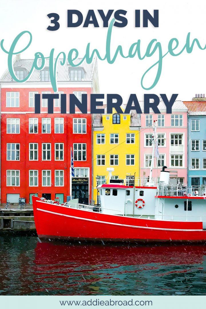 Copenhagen, Denmark is quickly becoming one of the trendiest cities in Europe to visit. With only 3 days in Copenhagen, first-timers can craft an itinerary to get an overview of the city. Check out this post for the perfect 3 day Copenhagen itinerary for first timers, or pin it for later! #copenhagen #travel