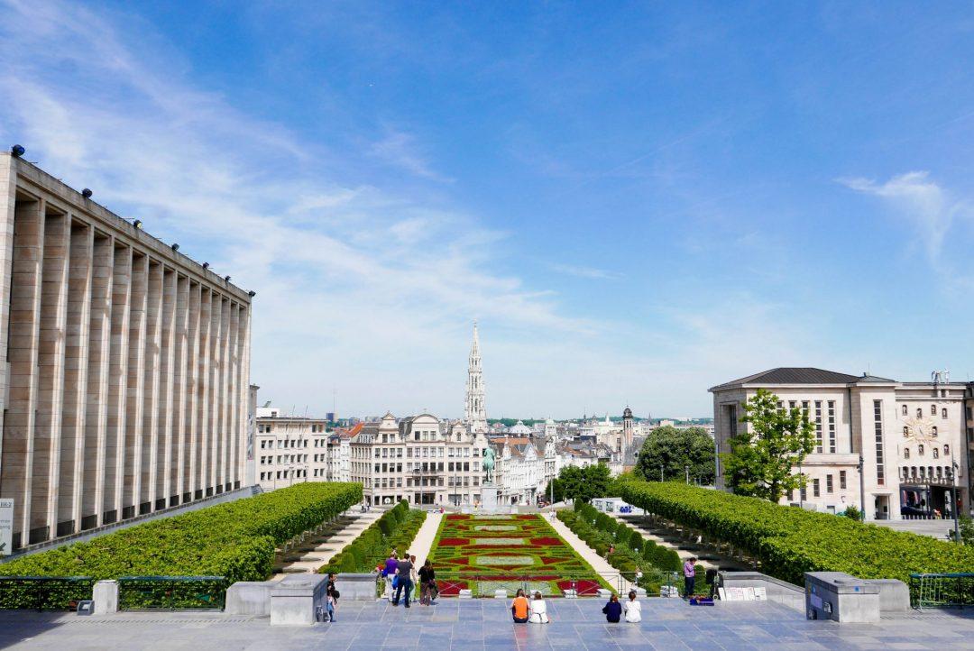 Jardin du Mont des Arts Brussels, a must-visit during 3 days in Belgium