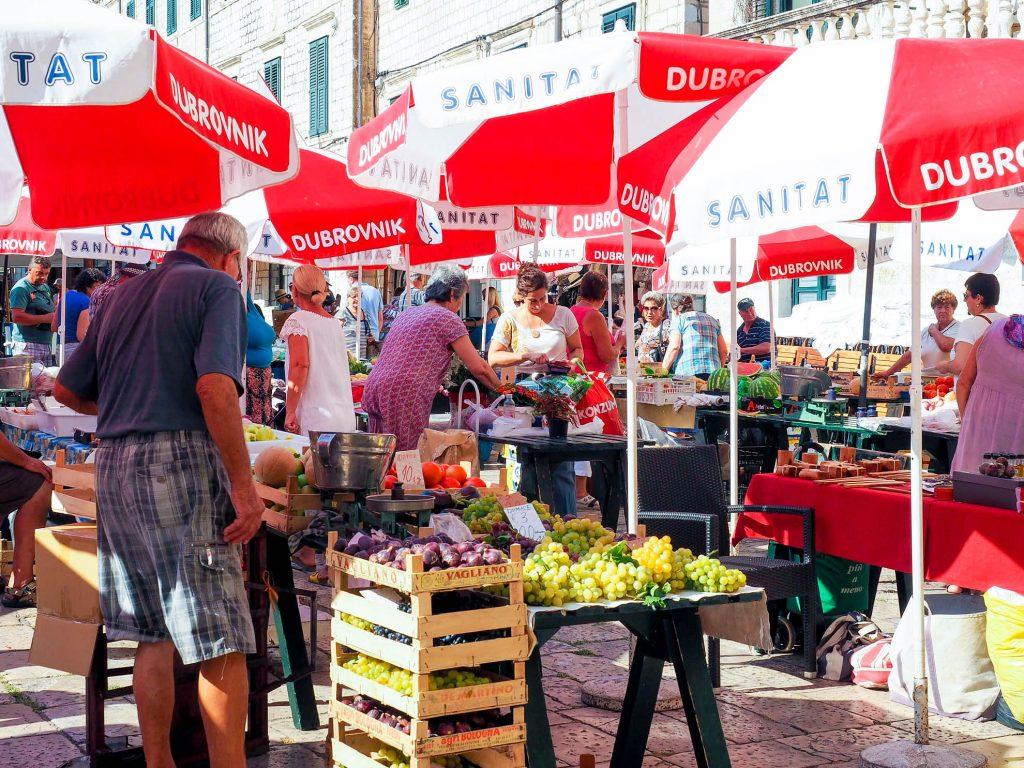 Gundulićeva Poljana Market Dubrovnik Croatia Best Food Markets in Europe