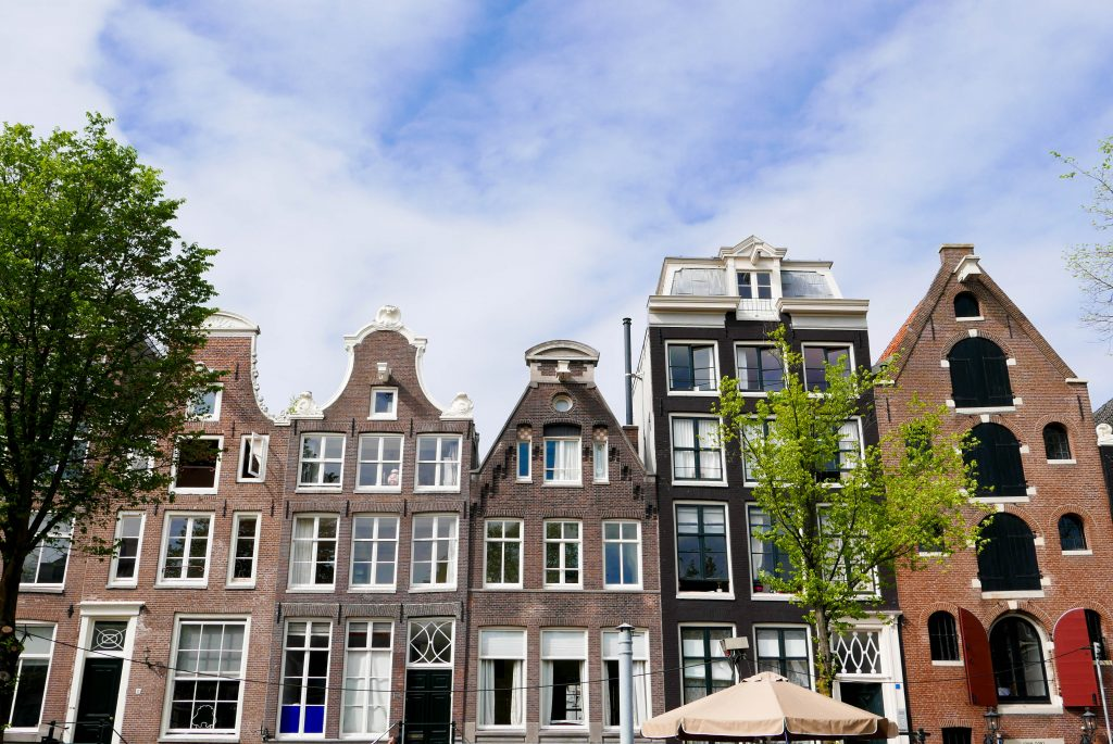 Amsterdam Houses. Amsterdam is one of the best solo female travel destinations!