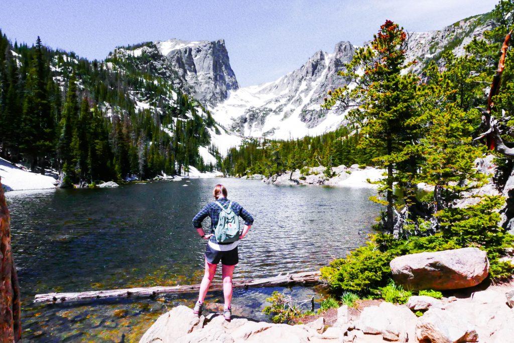 Dream Lake Addie Rocky Mountain National Park