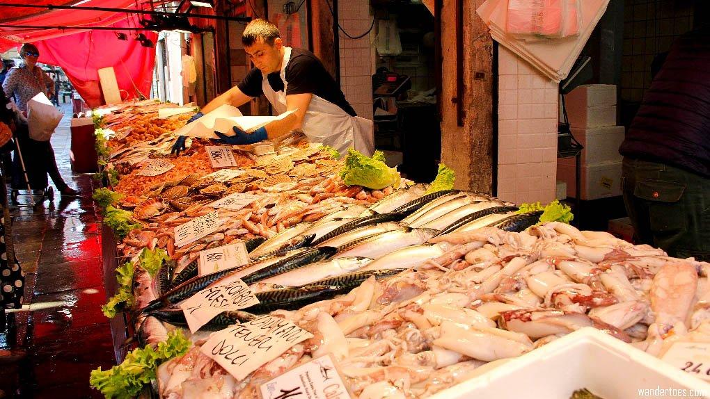 Venice Italy Rialto Market Fish Best Food Markets in Europe