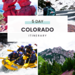 Denver, Colorado and the surrounding area are great for adventure! Go hiking in the mountains of Rocky Mountain National Park, visit Colorado Springs and the Garden of the Gods, and do all of the best things to do in Colorado in this Colorado & Denver itinerary! #usa #travel