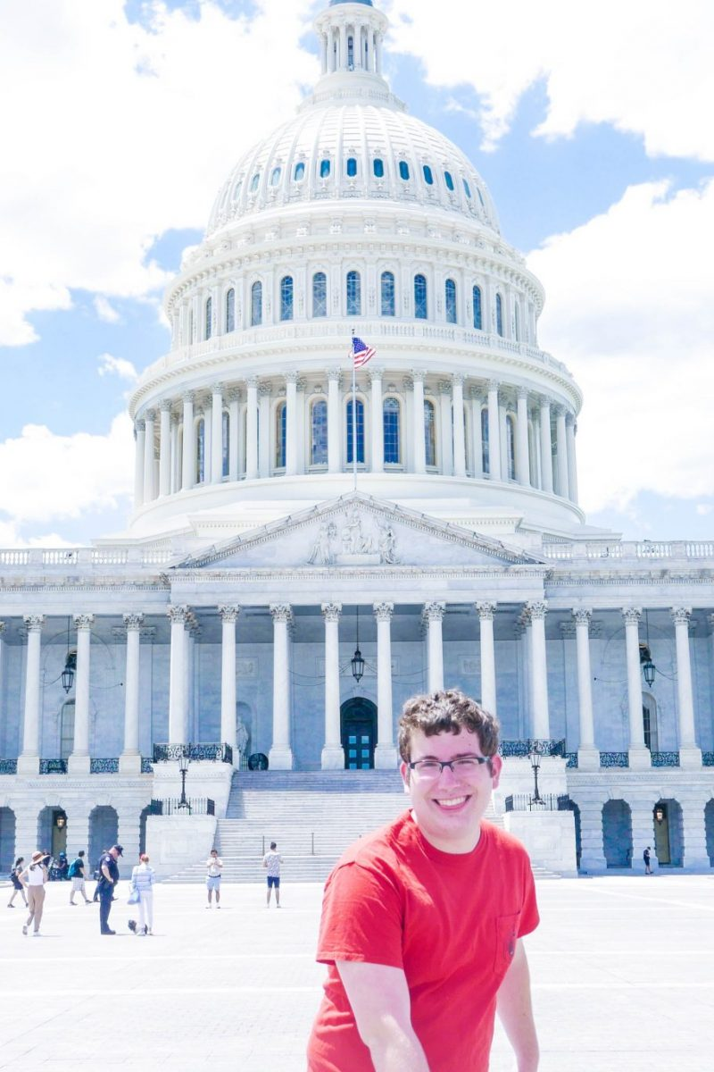 Daniel in front of the Capitol Building, Washington DC