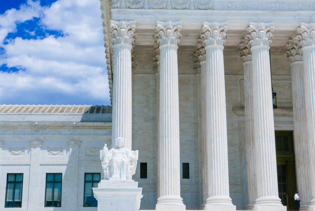 Columns on the Supreme Court Building Washington DC