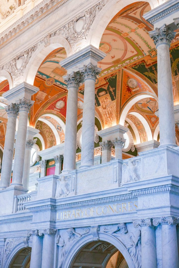 Pillars in the Library of Congress, Washington DC