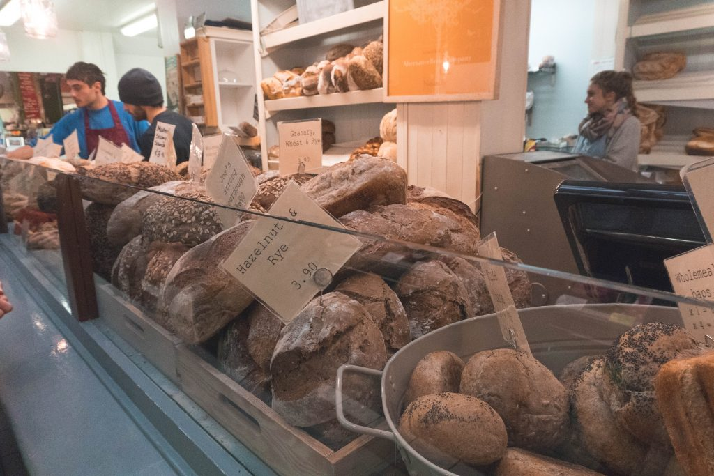 A display of bread at the Alternative Bread Company English Market Cork