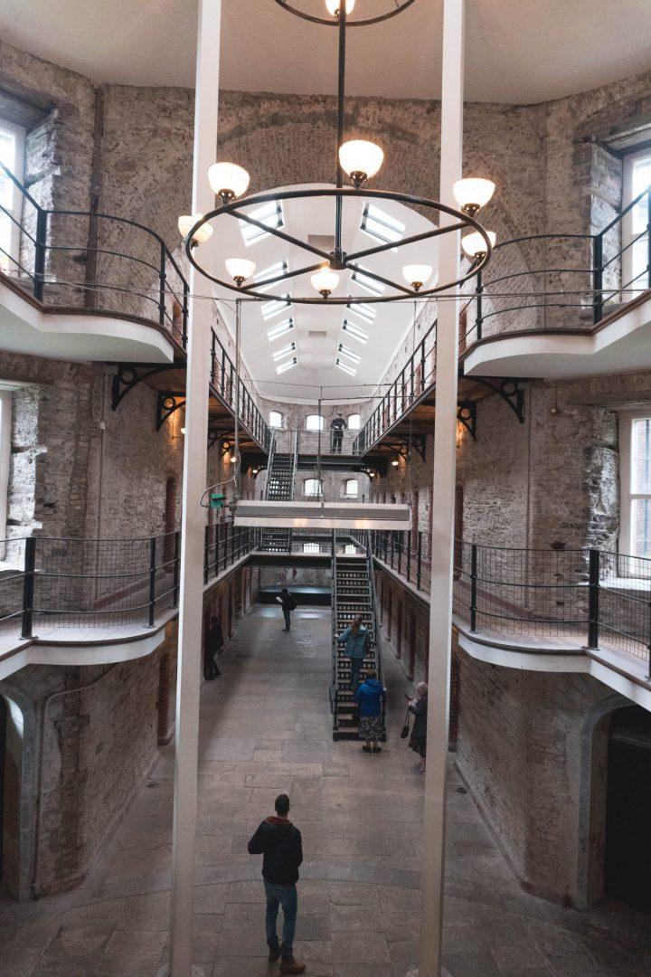Main room at the Cork City Gaol in Ireland