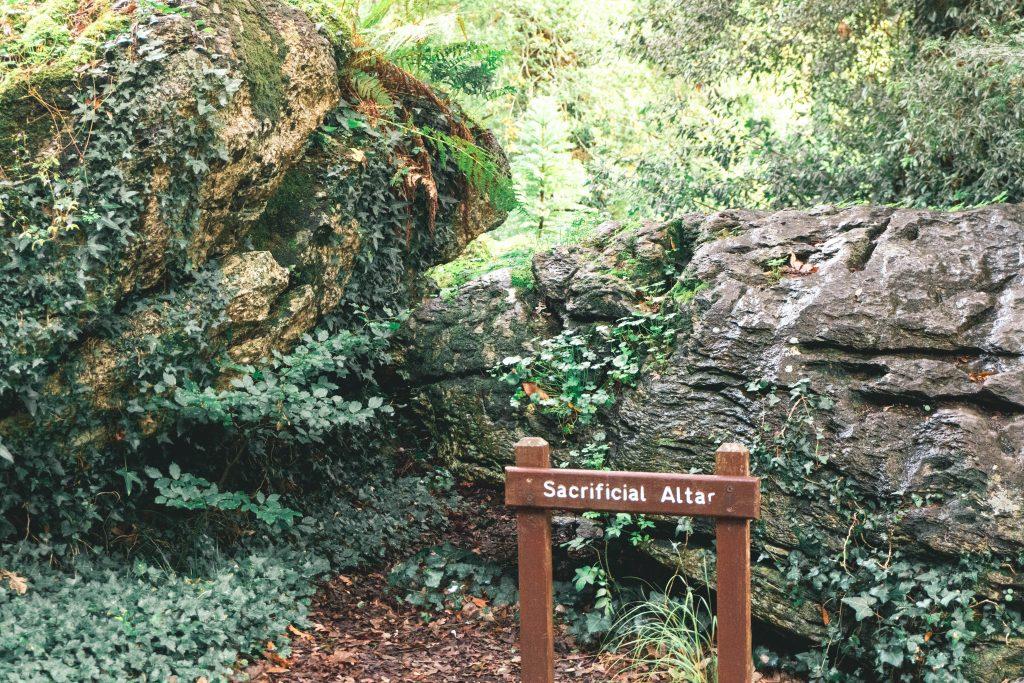 Rock Close Sacrificial Altar Blarney Castle Ireland