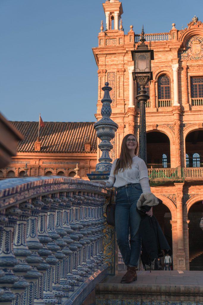 Addie Sunset Plaza de Espana Sevilla