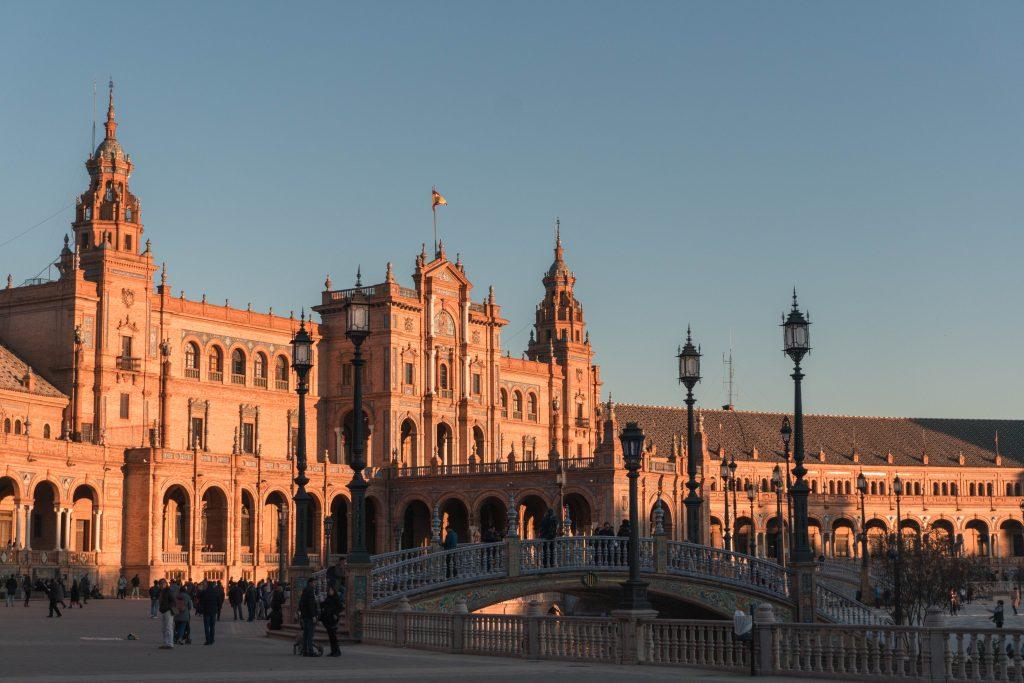 Sunset Plaza de Espana Sevilla