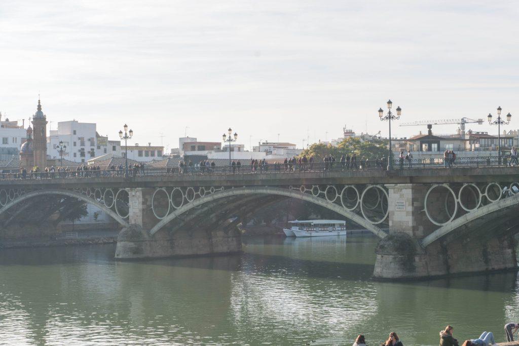 Triana Bridge Guadalquivir River Seville