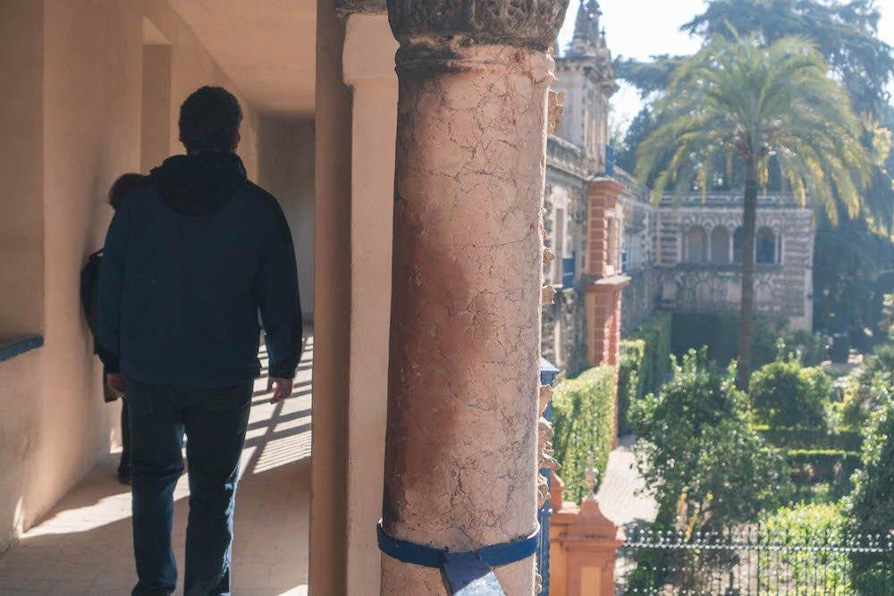 Daniel Walking Grotesque Gallery Real Alcazar Seville Spain