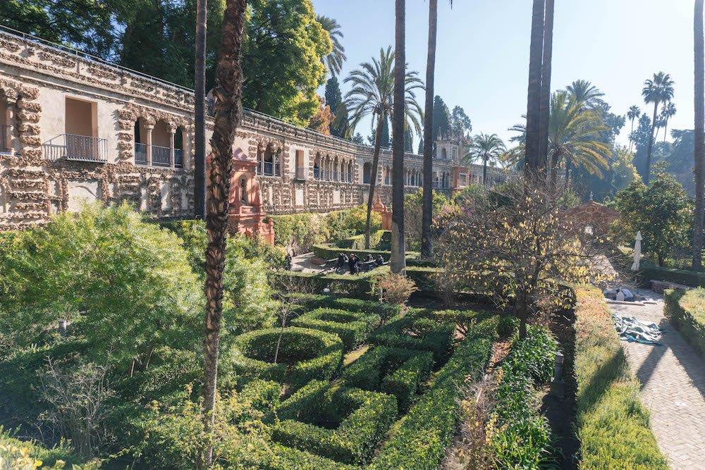 Garden of Ladies Real Alcazar Seville Spain