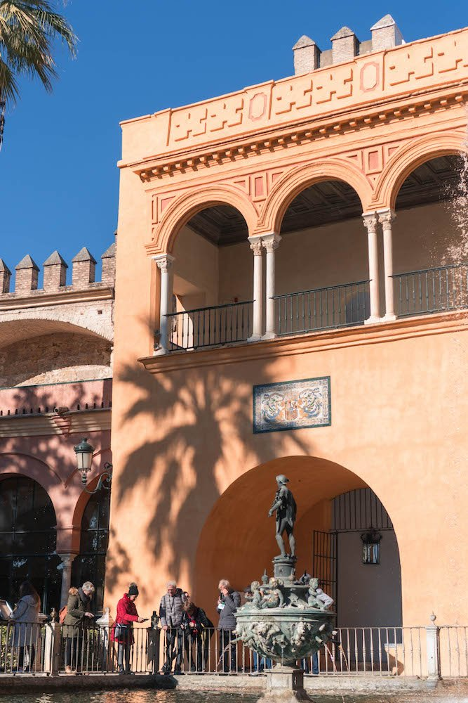 King's Royal Balcony Real Alcazar Seville Spain