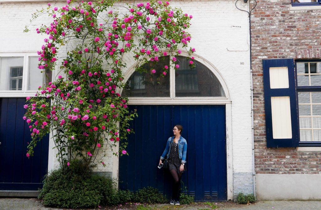 Addie in Bruges, one of the best solo female travel destinations