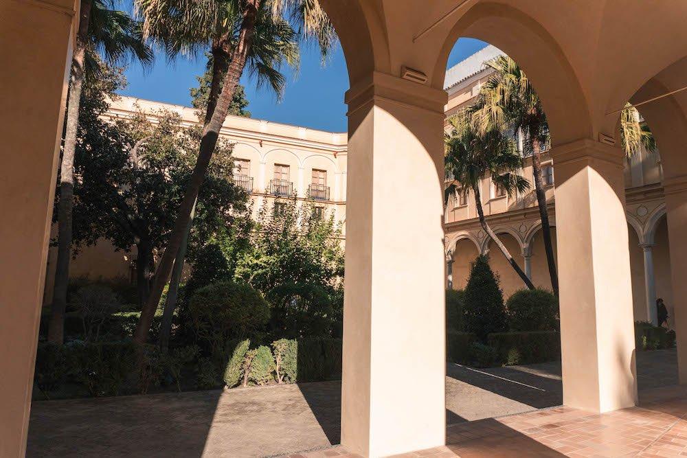 Prince's Garden Columns Real Alcazar Seville Spain